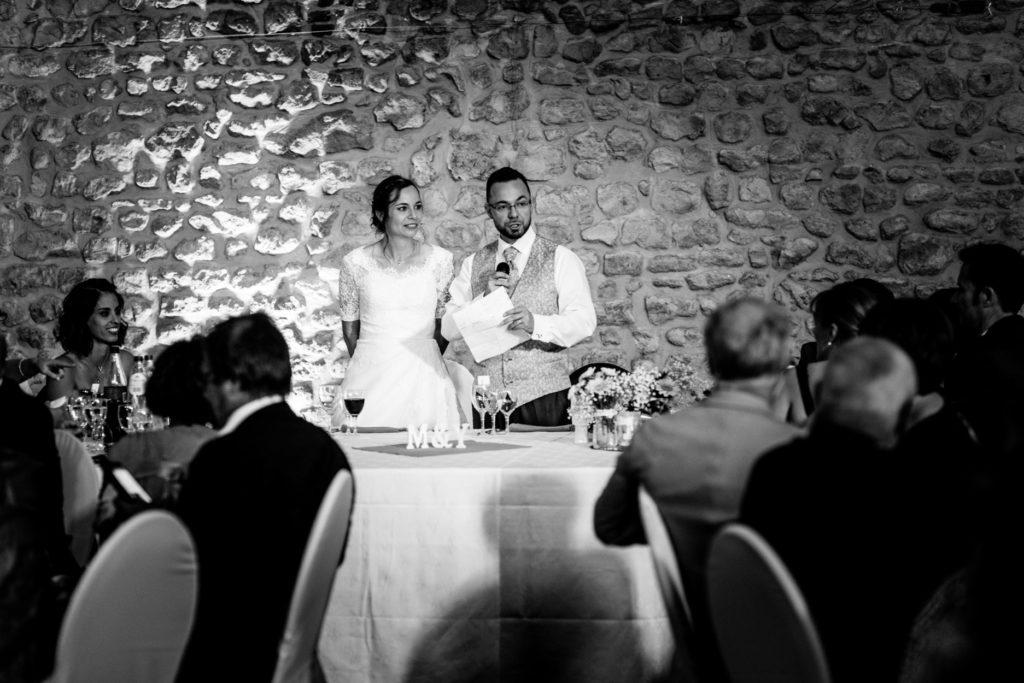 Discours des mariés - Photographe de mariage - La ferme du Grand MArcha - MAirage enghien - Photographe Enghien