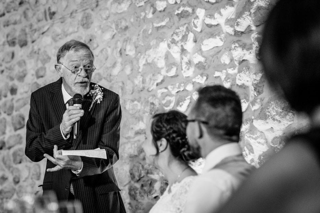Discours - Photographe de mariage - La ferme du Grand MArcha - MAirage enghien - Photographe Enghien