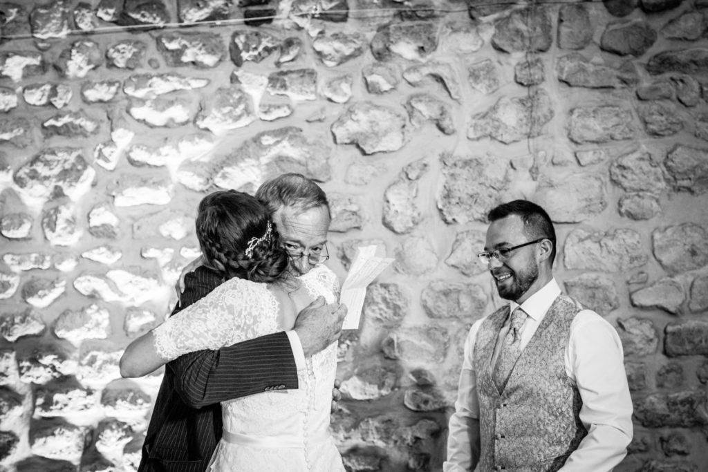 Papa de la mariée - Photographe de mariage - La ferme du Grand MArcha - MAirage enghien - Photographe Enghien