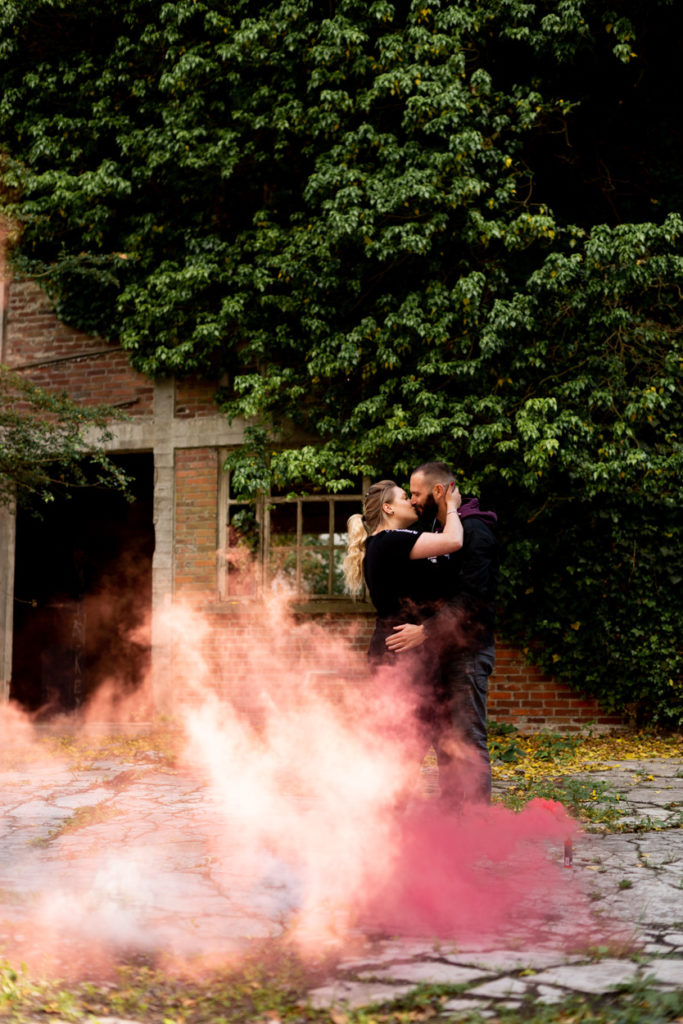 séance couple fumigène